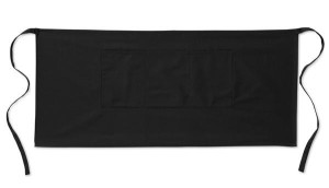 černá číšnická zástěra krátká s kapsami