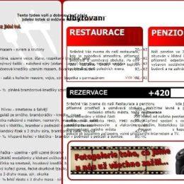 Chyby restaurací na webu